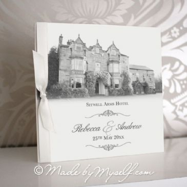 Sitwell Arms Hotel Pocketfold Wedding Invitation - Includes RSVP & Guest Information